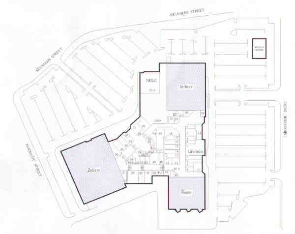 Brookside Mall floorplan, Fredericton, NB