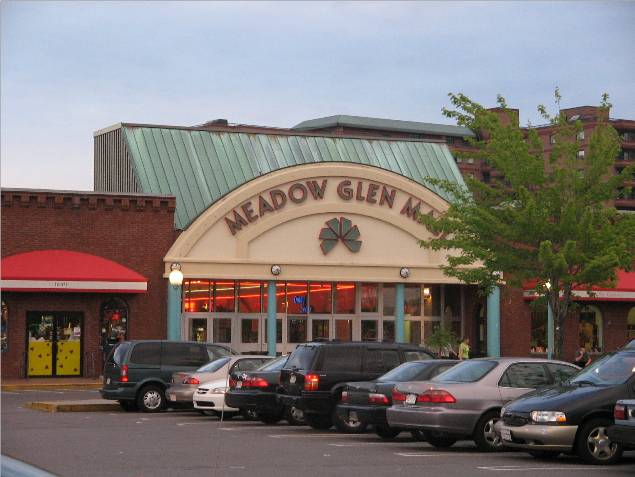 Meadow Glen Mall main entrance in Medford, MA