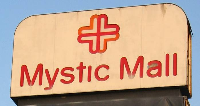 Mystic Mall Logo in Chelsea, MA