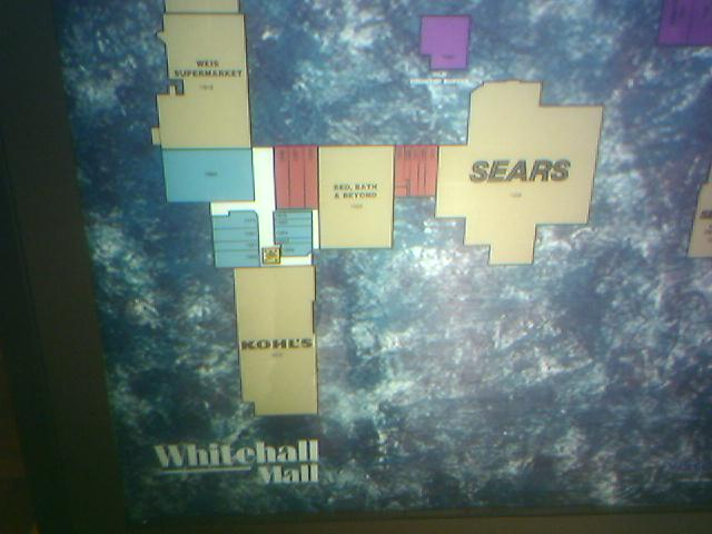 Whitehall Mall directory in Whitehall (Allentown), PA