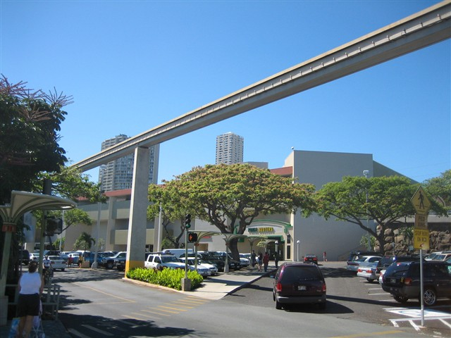 Pearlridge Center Skycab Monorail in Aiea, HI