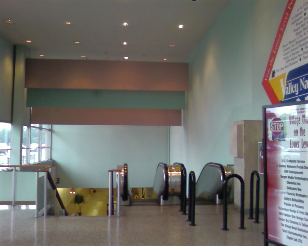 Escalators to basement in the Bergen Mall in Paramus, NJ