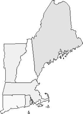 Shocking image for printable map of new england