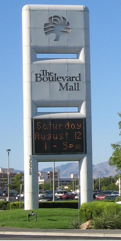 Boulevard Mall sign in Las Vegas, NV