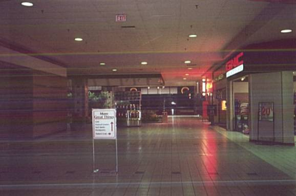 Fairfield Mall with 70s vintage Caldor logo in the distance