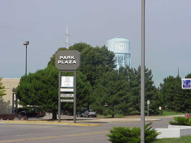 Park Plaza Mall pylon in Oshkosh, WI