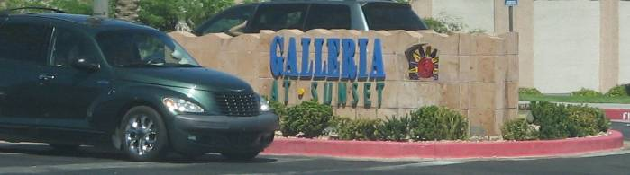 Galleria at Sunset sign in Henderson, Nevada