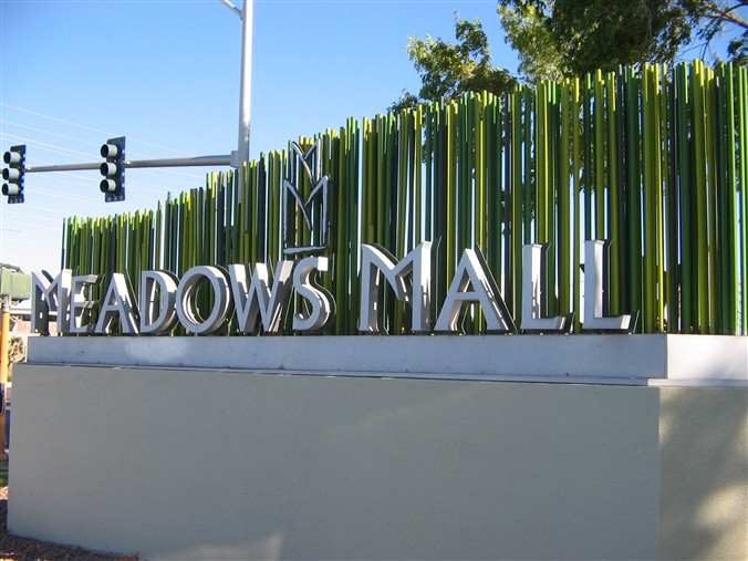 Meadows Mall sign in Las Vegas, Nevada