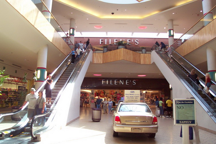 The Holyoke Mall at Ingleside (a.k.a. Holyoke Mall) is an upscale shopping center located in Holyoke, Massachusetts. The mall features nearly stores, a large food court, and several restaurants. At million square feet, the three-level mall is one of the largest malls in New England.