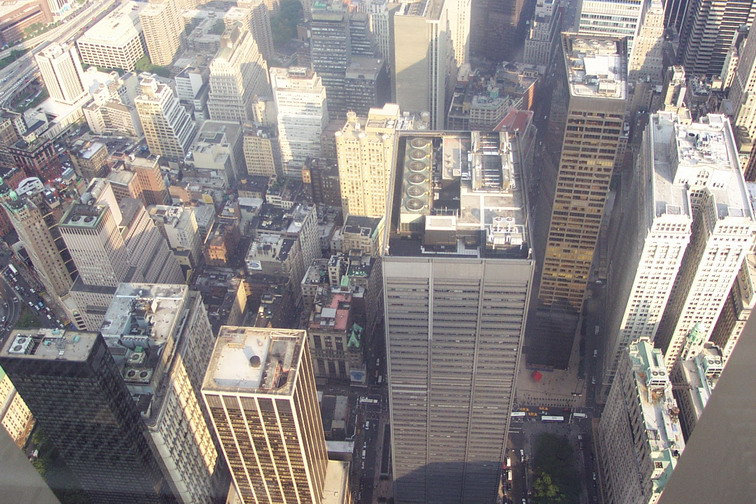 View From The Observation Deck Of WTC 2 On 8/21/2001.