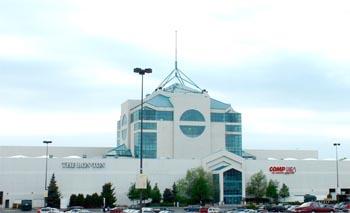 Carousel Center exterior spire