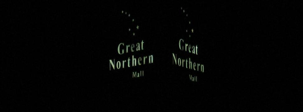 Great Northern Mall sign at night in Clay, NY