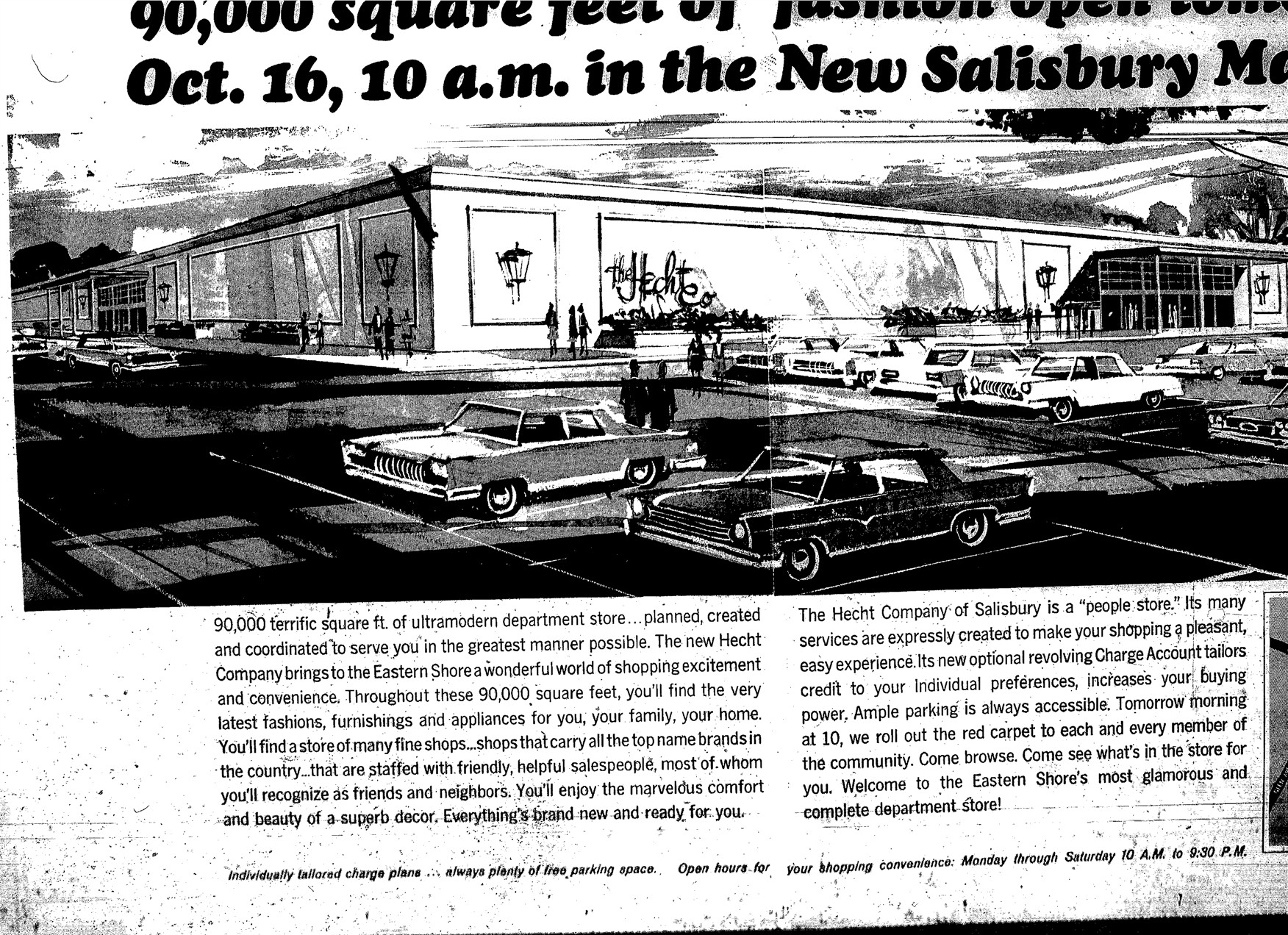 1968 Hecht's at for Salisbury Mall in Salisbury, MD