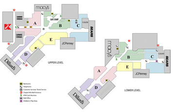 2006 Mall Map of Chapel Hills Mall in Colorado Springs, CO