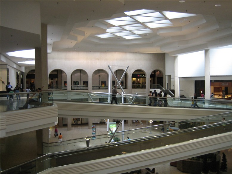 Woodfield Mall Marshall Field's (now Macy's) from center court in Schaumburg, IL