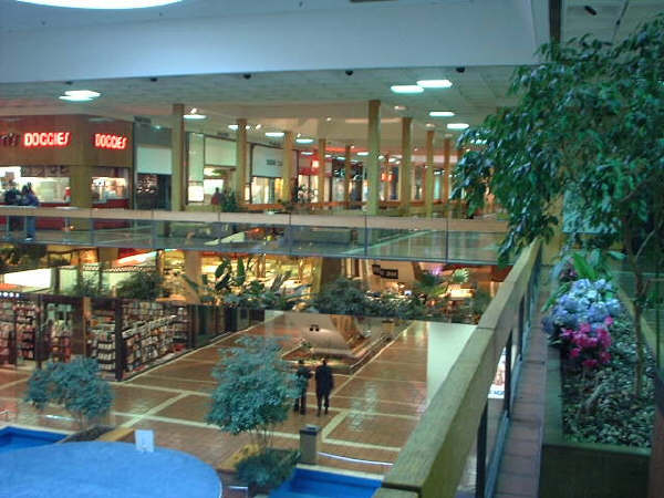 Historic photo of the interior of the Landover Mall. COPYRIGHT DC GROCERY GROUP