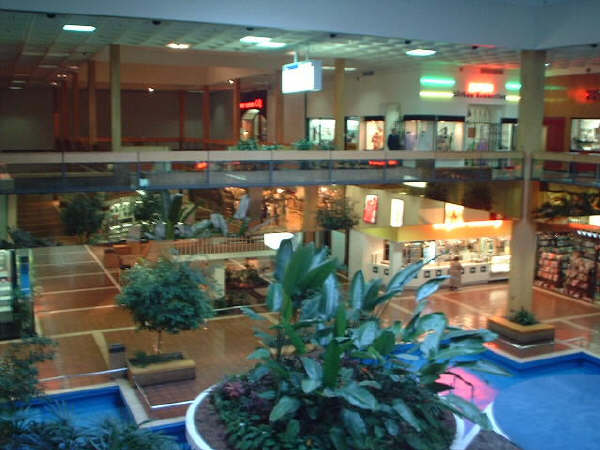Historic photo of the interior of the Landover Mall, facing the former Garfinckel's. COPYRIGHT DC GROCERY GROUP