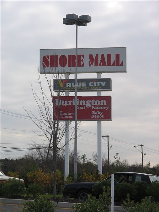 Shore Mall sign in Egg Harbor Township, New Jersey