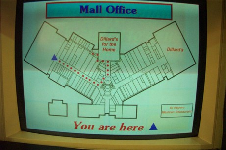 Television Directory at Southwyck Mall in Toledo, OH