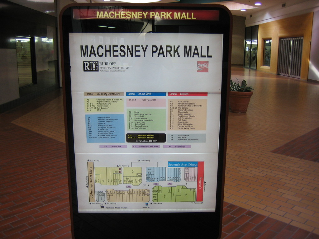 Machesney Park Mall Directory 2005 in Machesney Park, IL