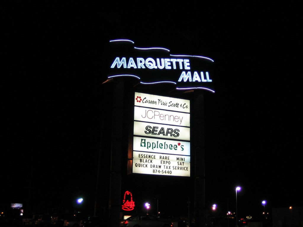 Marquette Mall pylon in Michigan City, IN
