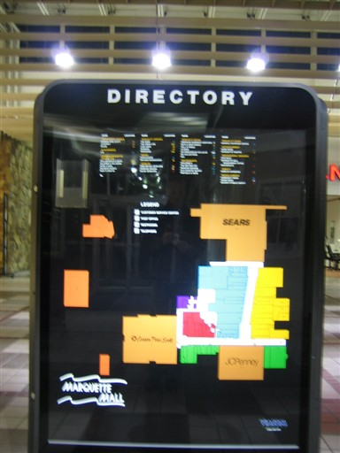Marquette Mall directory in Michigan City, IN