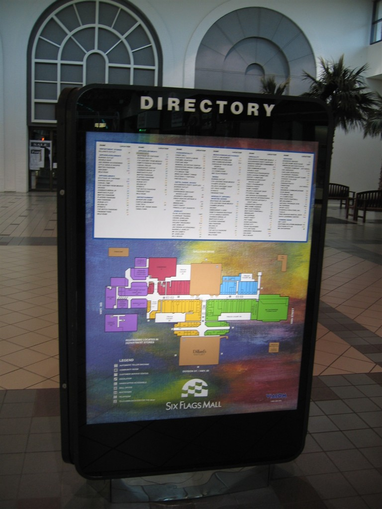 Six Flags Mall directory in Arlington, TX