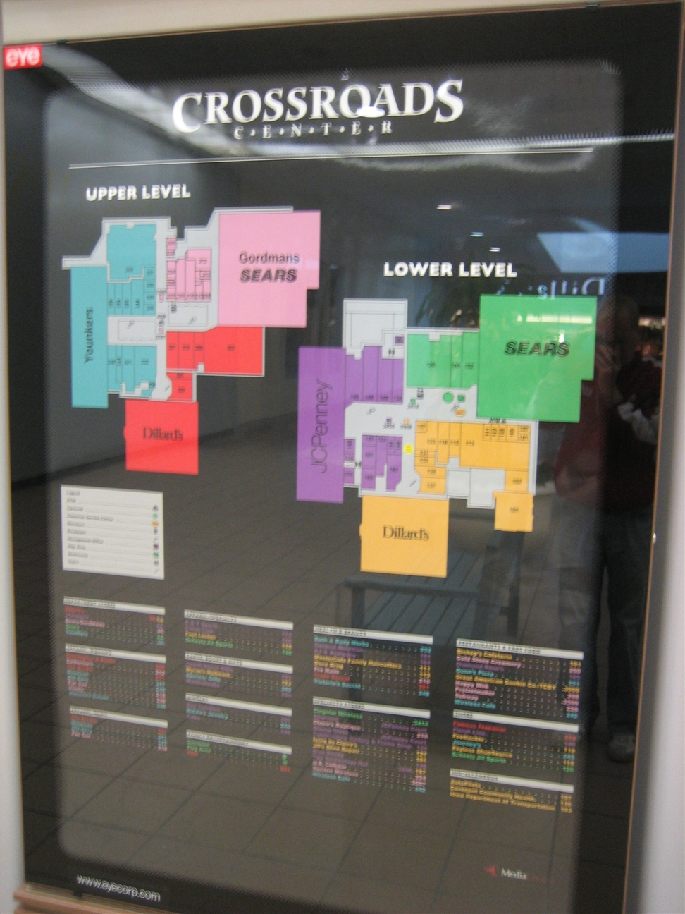 Crossroads Center directory in Waterloo, IA