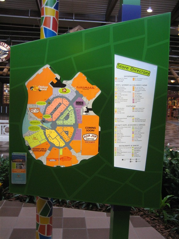 Festival Bay Mall directory in Orlando, FL