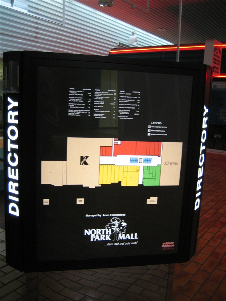 North Park Mall directory in Villa Park, IL