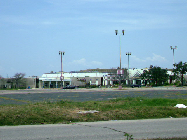 Rear entrance to Lake Forest Plaza Mall in New Orleans, LA