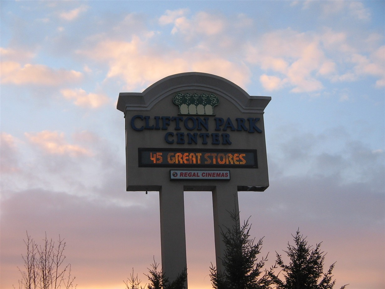 Clifton Park Center sign in Clifton Park, New York
