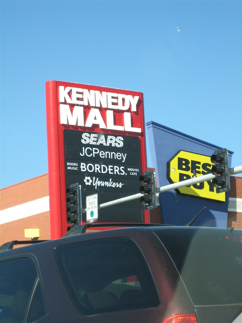 Kennedy Mall new sign in Dubuque, IA