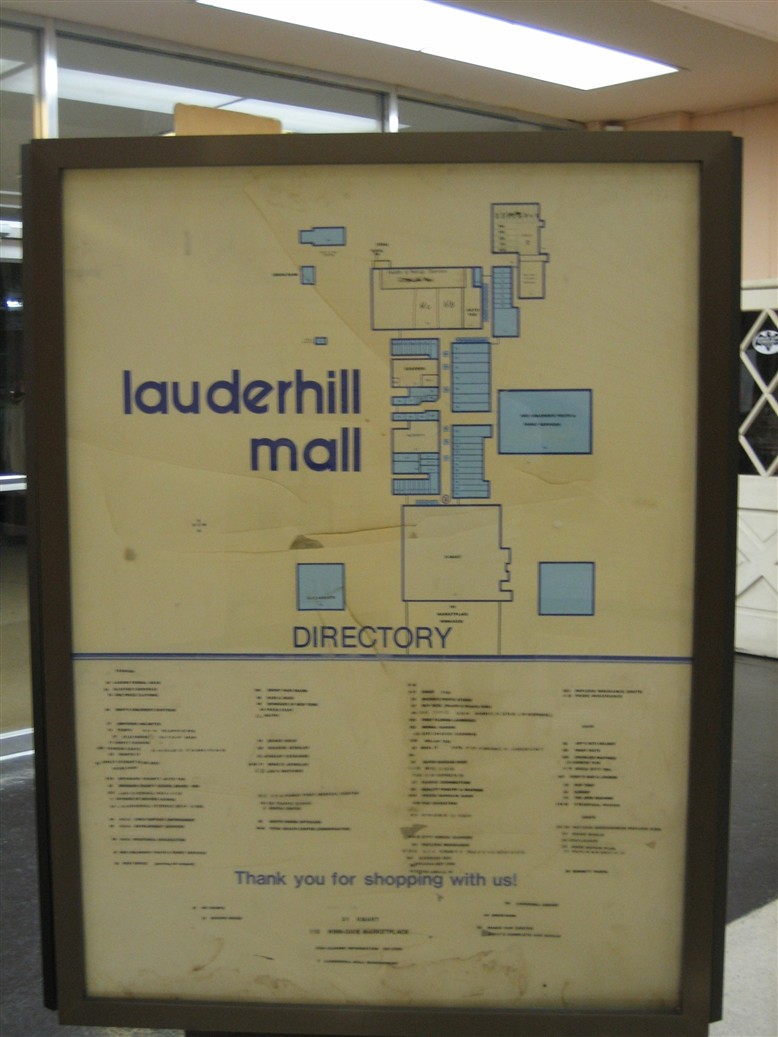 Lauderhill Mall ancient directory in Lauderhill, FL