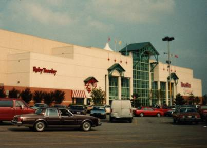River Falls Mall front entrance, 1992.