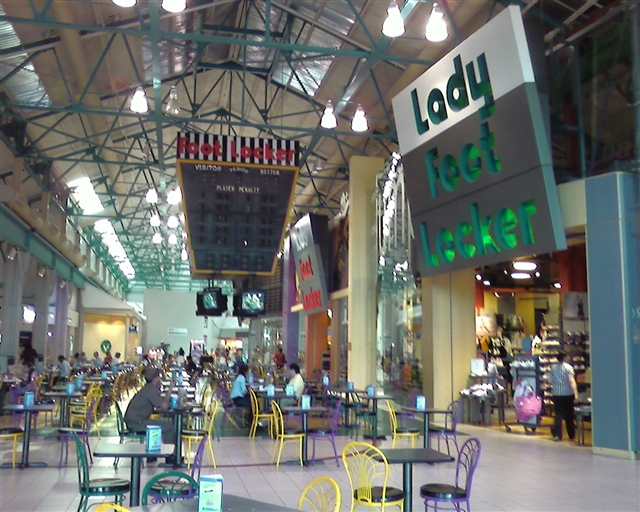 Food court at Arsenal Mall in Watertown, Massachusetts, May 2007