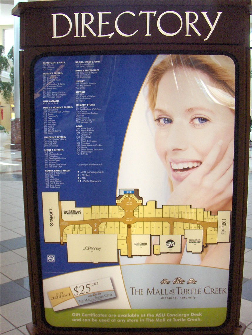 Mall at Turtle Creek directory in Jonesboro, AR