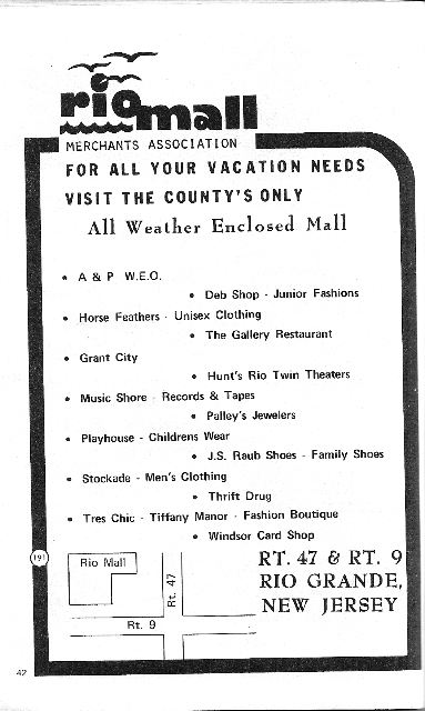 Historic Rio Mall advertisement