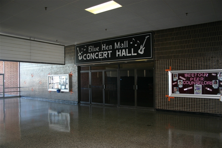 Former movie theatres at Blue Hen Mall in Dover, Delaware