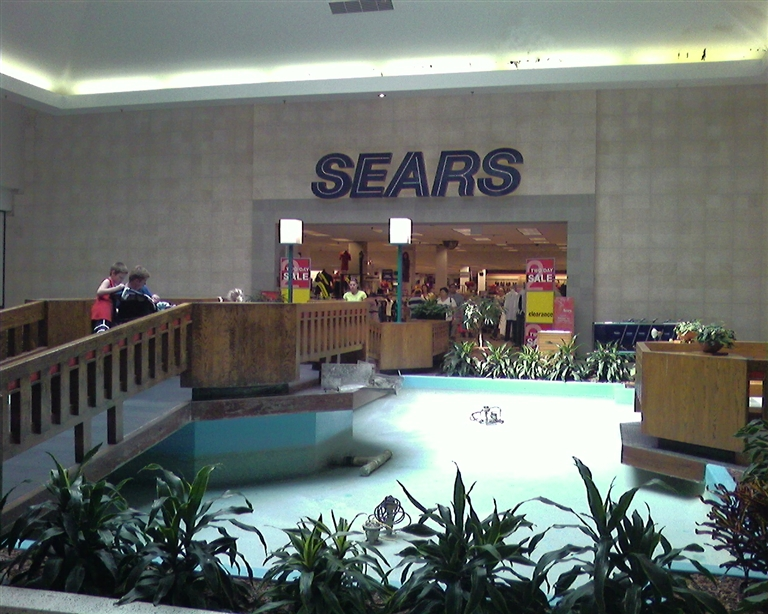 Fountain in Sears court at Berkshire Mall in Wyomissing, PA