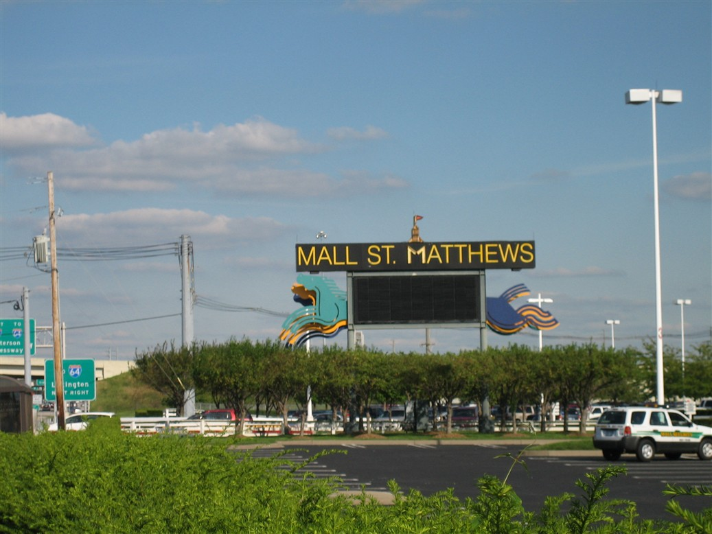 Mall St. Matthews sign in Louisville, KY