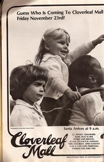 1979 Cloverleaf Mall advertisement