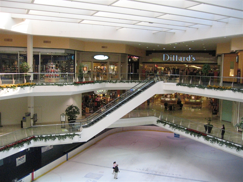 Eastland Mall Dillard's and ice rink in Charlotte, NC