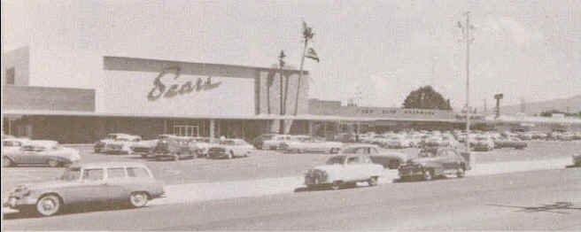 Historic photo of San Antonio Center Sears in Mountain View, California