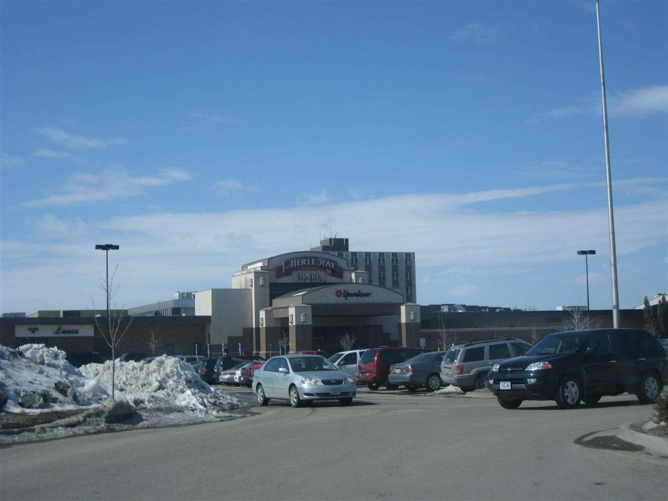 Merle Hay Mall main entrance in Des Moines, IA