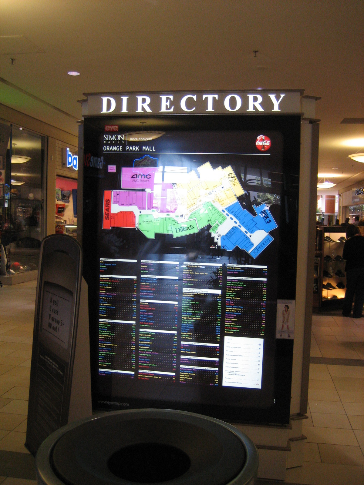 Orange Park Mall directory in Orange Park, FL