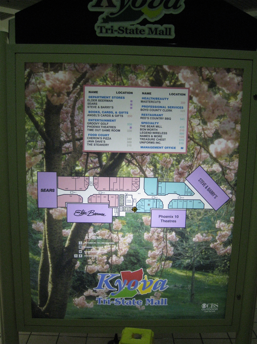 Kyova Tri-State Mall directory in Ashland, KY
