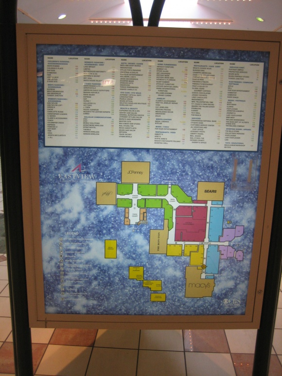 Eastview Mall Map Labelscar: The Retail History BlogEastview Mall; Victor (Rochester  Eastview Mall Map