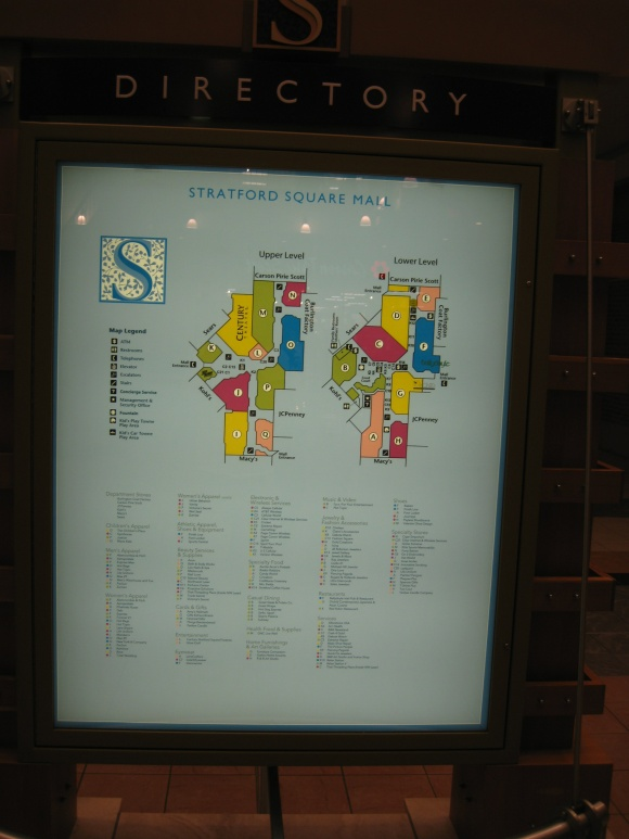 Orland Park Mall Map Labelscar: The Retail History BlogStratford Square Mall